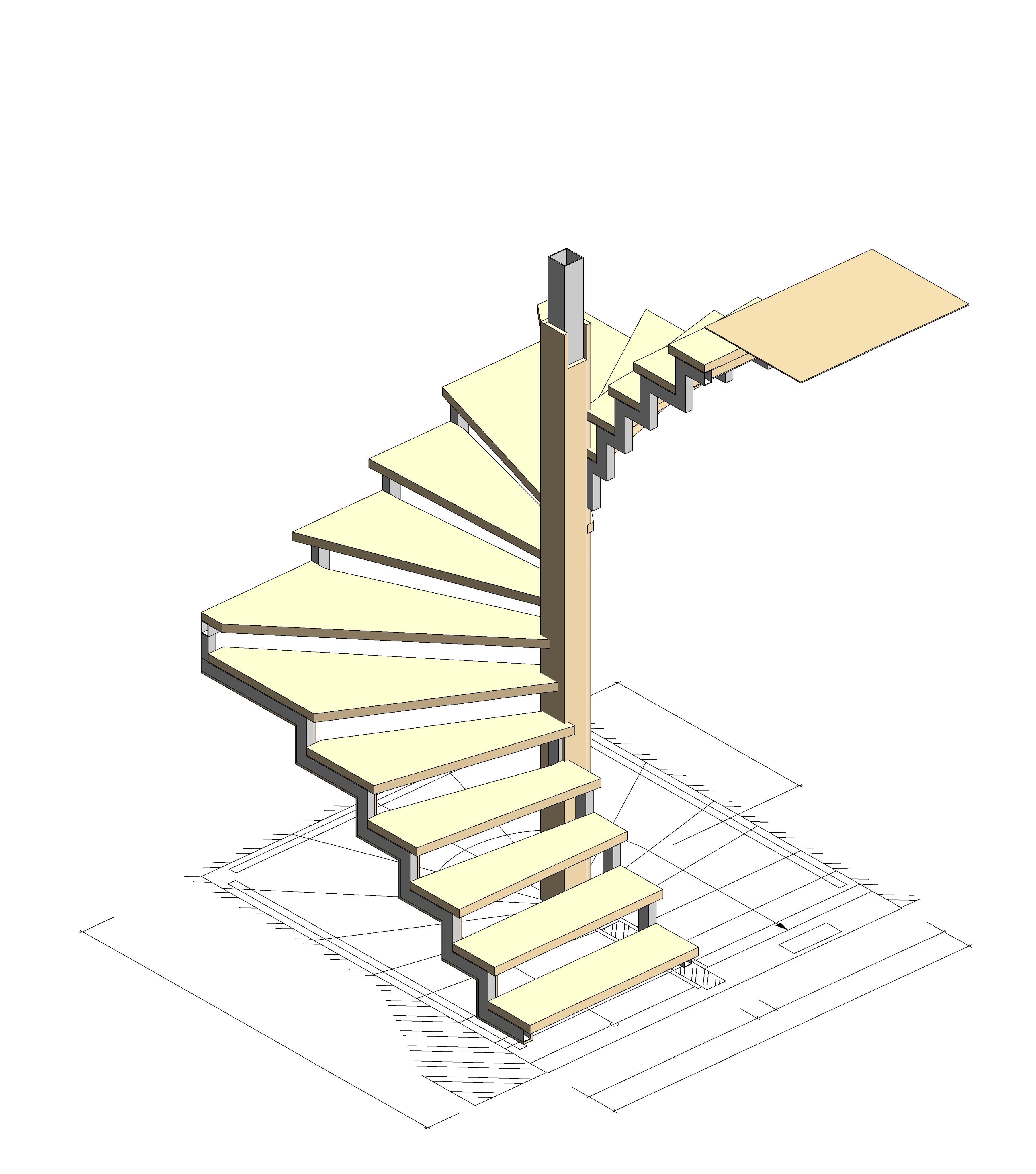 Лекальная лестница